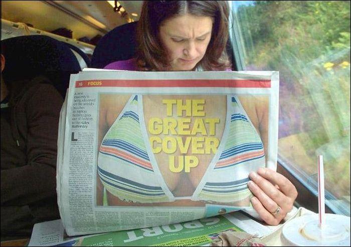 Une grosse .... couverture - Photo prise au bon moment